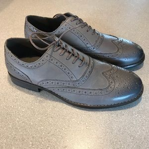 Nunn Bush Men's Leather Oxfords Shoes Grey